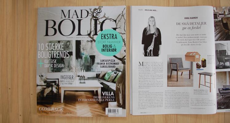 """Mad&Bolig, marts 2014, side 16.""""Hold øje med… Anna Karnov"""""""