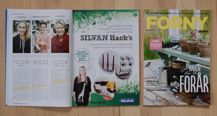 """Forny, forår 2014, side 19.Teaser på mit projekt """"Silvan Hacks af Anna Karnov"""""""