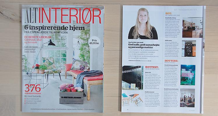 "AltInteriør, maj 2014, side 120.""Anna Karnov: Mit Trendbarometer"""