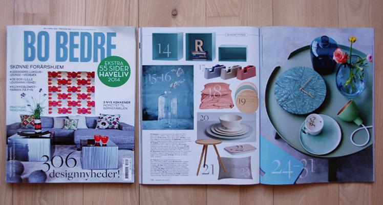 BoBedre, april 2014, side 130 – 131.SHOPPING: PickME skammel. Styling: Lene Ostenfeldt
